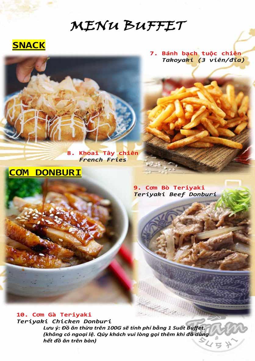 Menu Trạm Sushi - Trần Quang Diệu 3