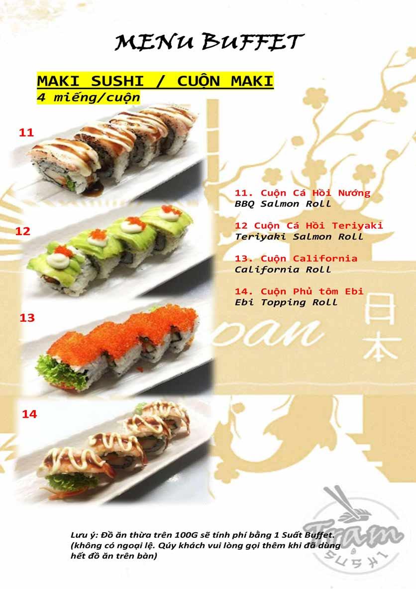 Menu Trạm Sushi - Trần Quang Diệu 4