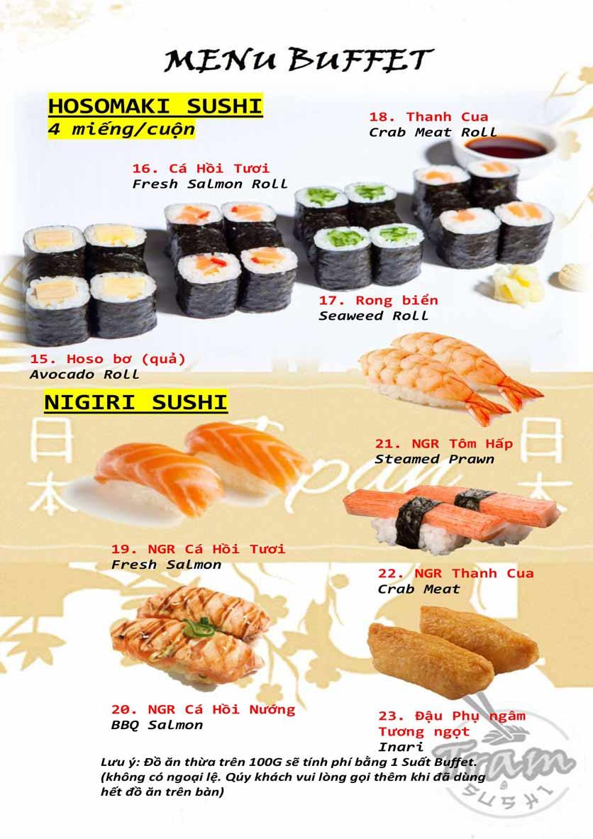 Menu Trạm Sushi - Trần Quang Diệu 5