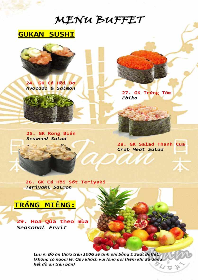 Menu Trạm Sushi - Trần Quang Diệu 6