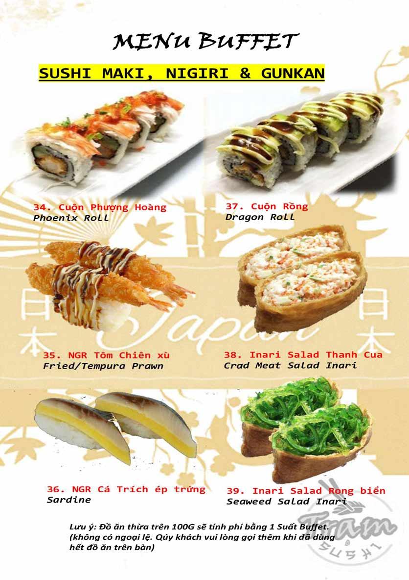 Menu Trạm Sushi - Trần Quang Diệu 8