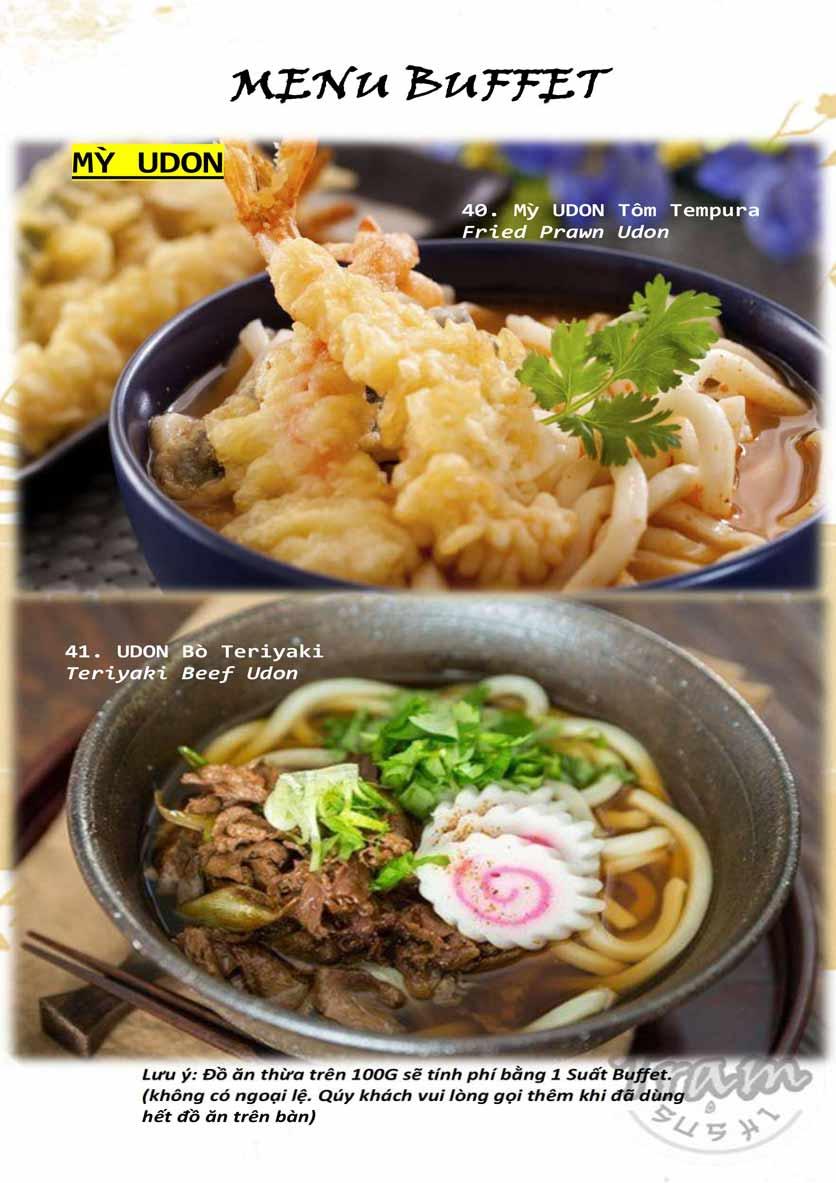 Menu Trạm Sushi - Trần Quang Diệu 9