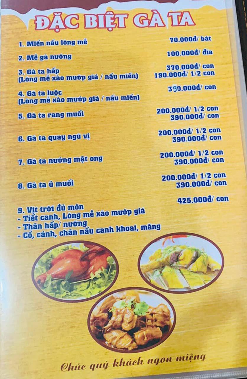 Menu Tuấn Giang – Trần Khát Chân  25
