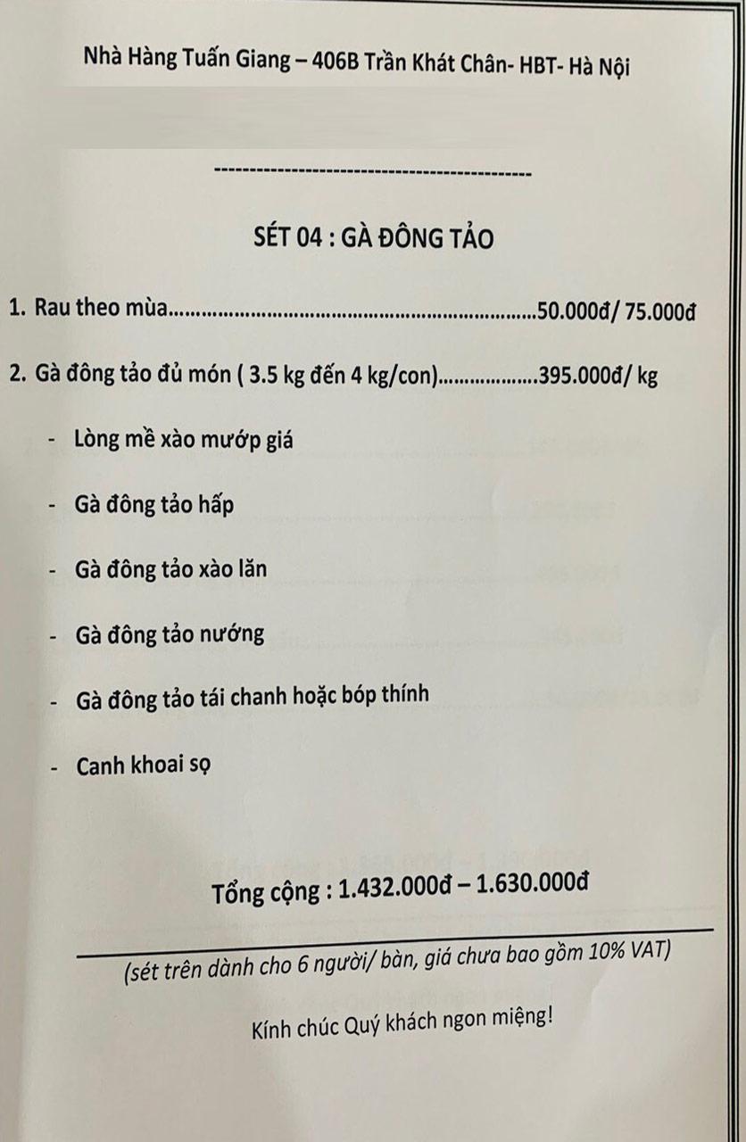 Menu Tuấn Giang – Trần Khát Chân  39