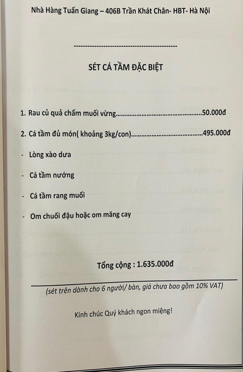 Menu Tuấn Giang – Trần Khát Chân  46