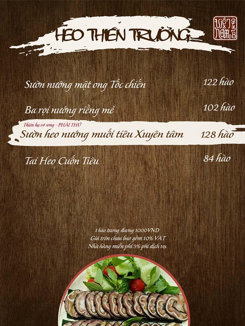 Menu Viet Nam 938 - Ngõ Núi Trúc 13