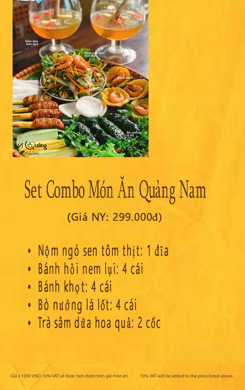 Menu Vị Quảng – Tràng Tiền 1