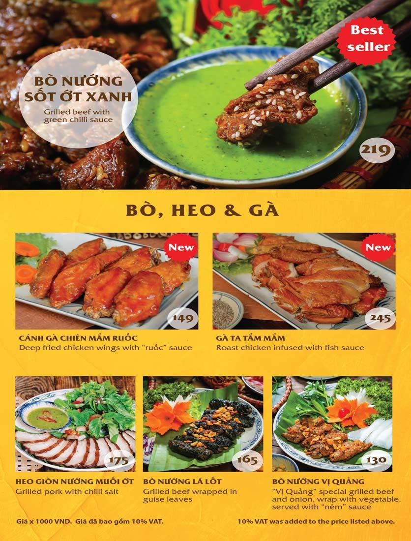 Menu Vị Quảng – Nguyễn Chí Thanh 3