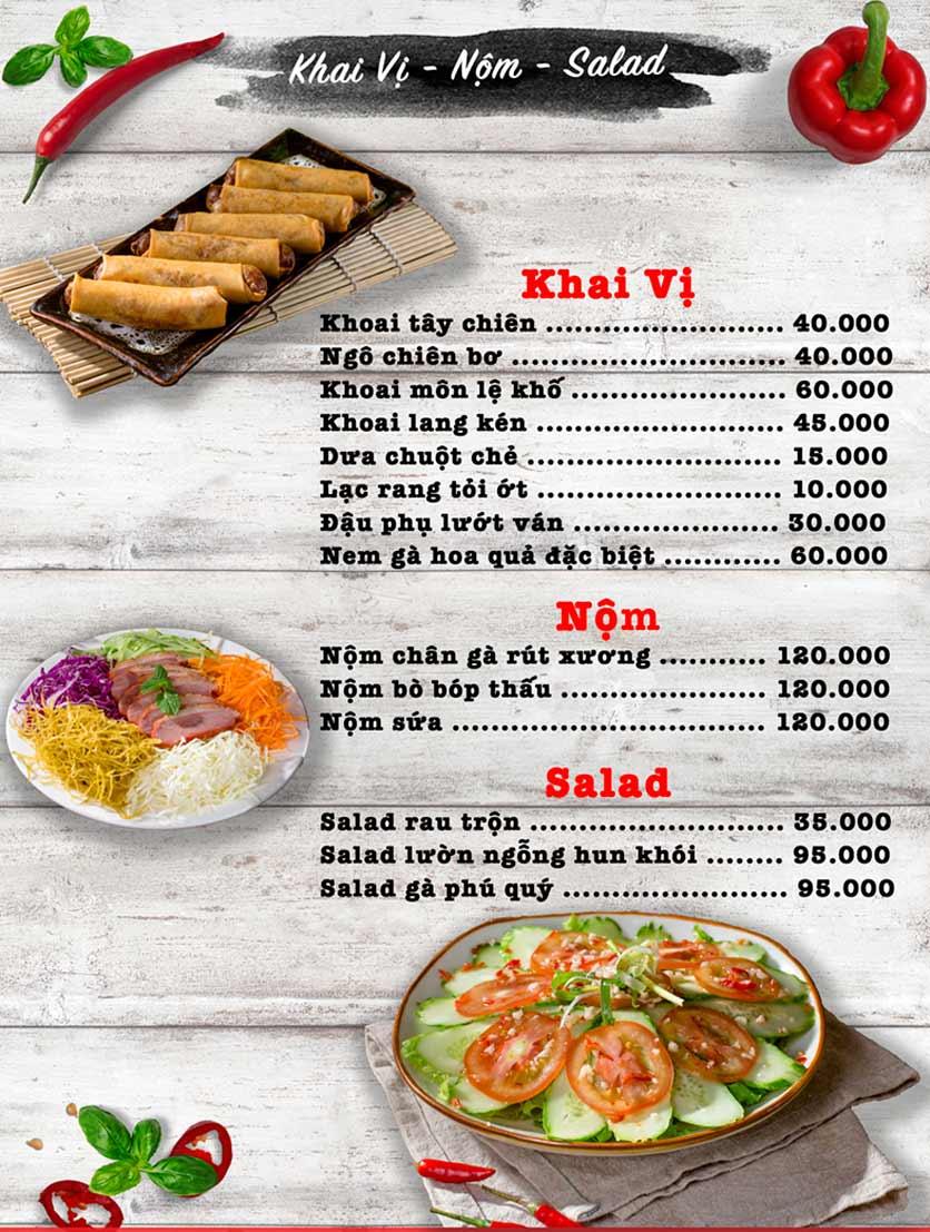 Menu Vua Gà Nướng - Kim Mã 1