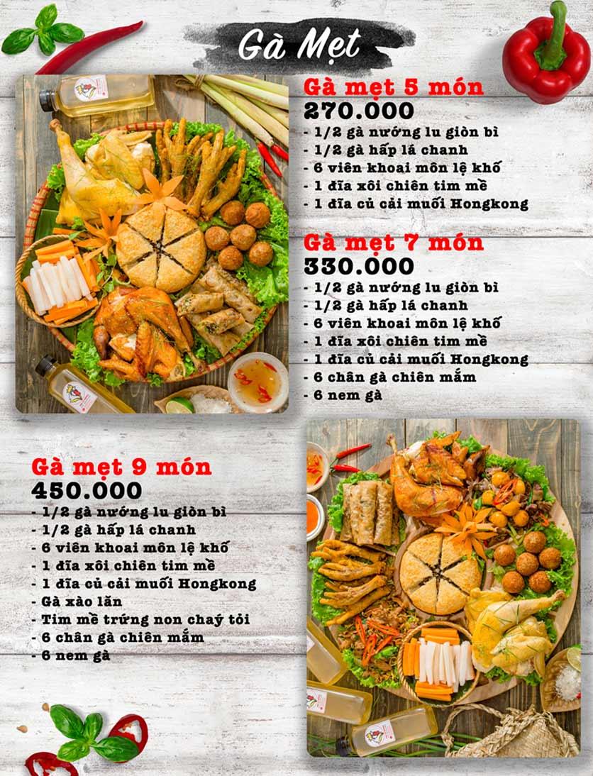 Menu Vua Gà Nướng - Kim Mã 2