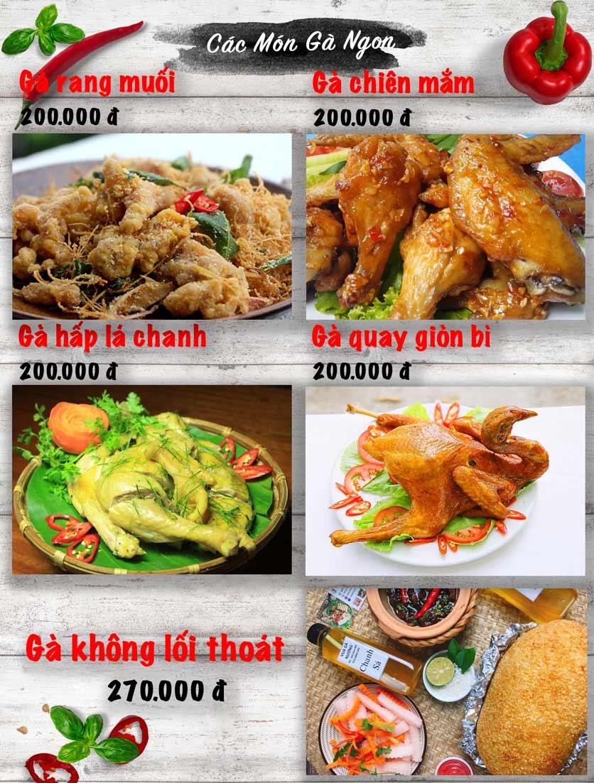 Menu Vua Gà Nướng - Kim Mã 4