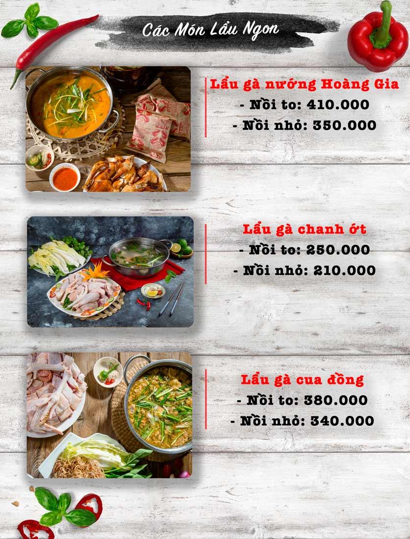 Menu Vua Gà Nướng - Kim Mã 5