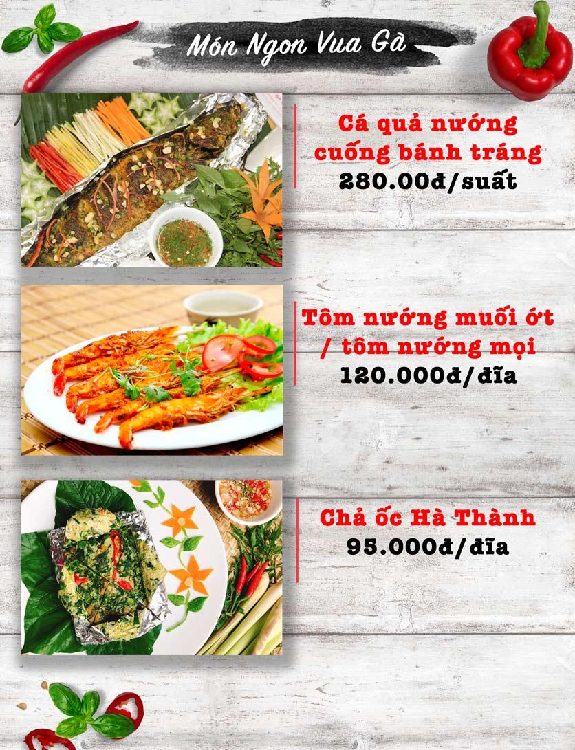 Menu Vua Gà Nướng - Kim Mã 7