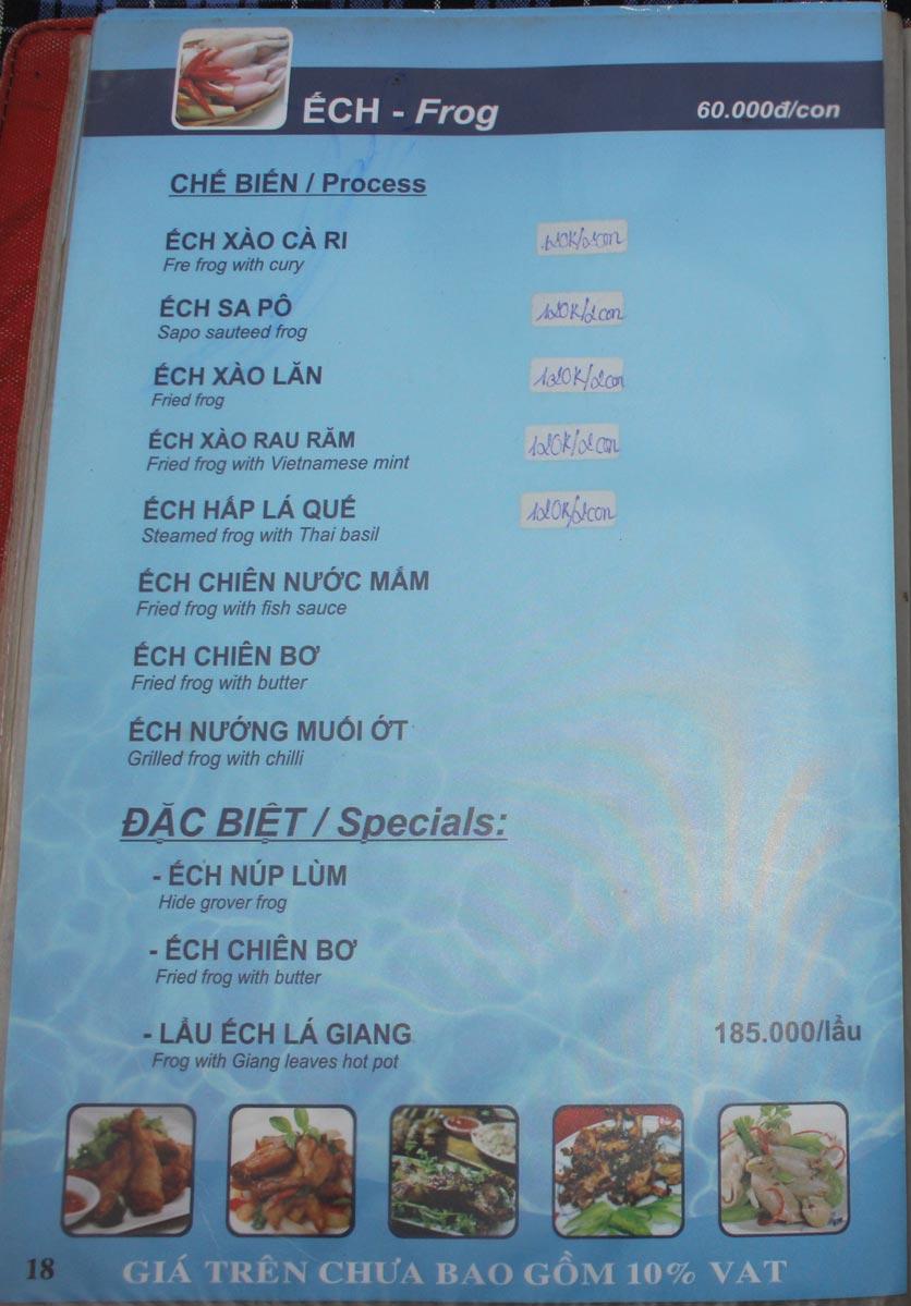 Menu Hải Sản Biển Đông 3 14