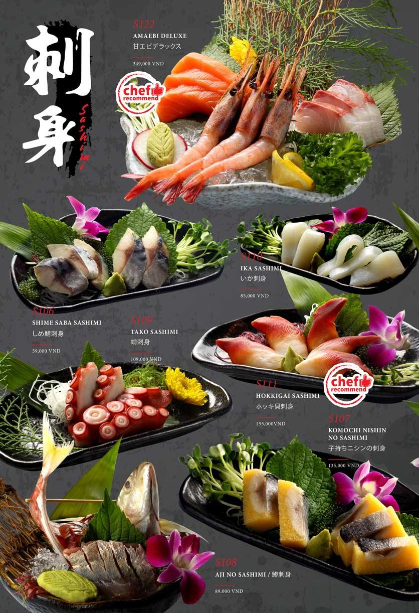 Menu Kohaku Sushi - Vincom Lê Thánh Tôn 2