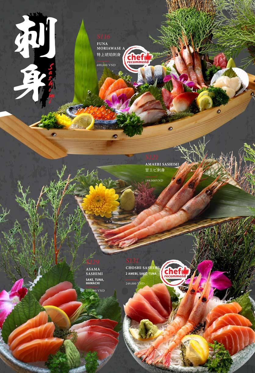 Menu Kohaku Sushi - Vincom Lê Thánh Tôn 4