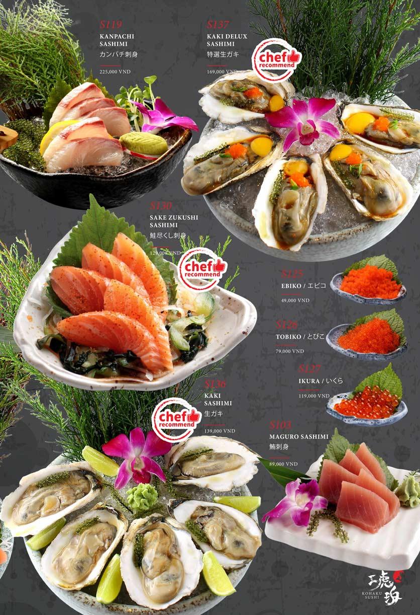 Menu Kohaku Sushi - Vincom Lê Thánh Tôn 5