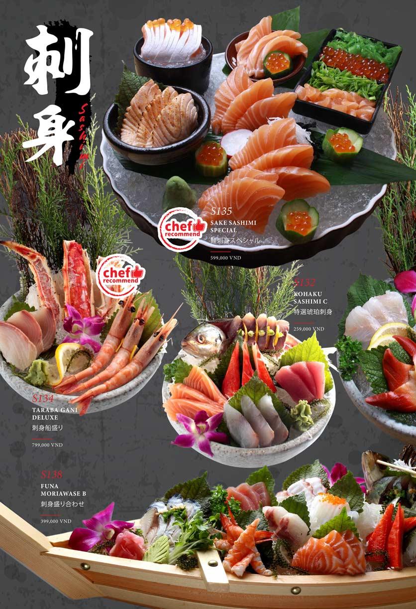 Menu Kohaku Sushi - Vincom Lê Thánh Tôn 6