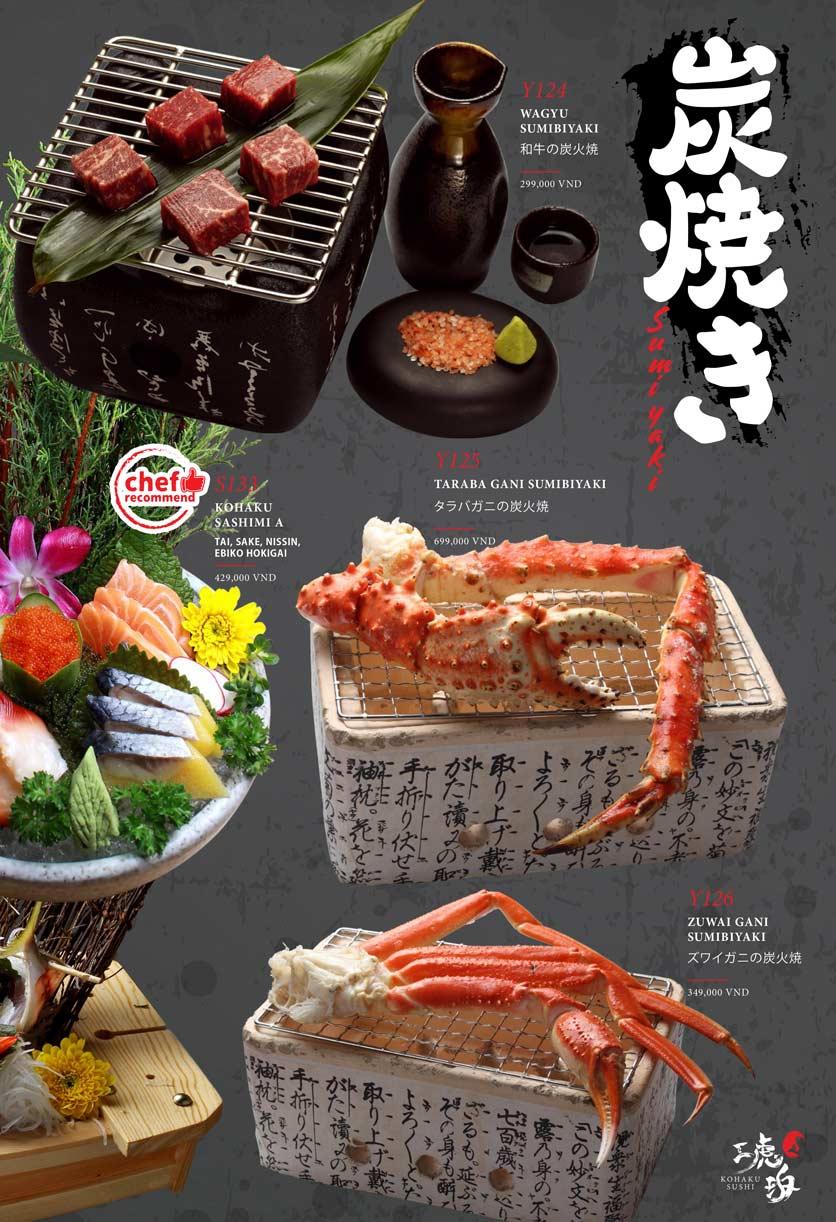 Menu Kohaku Sushi - Vincom Lê Thánh Tôn 7