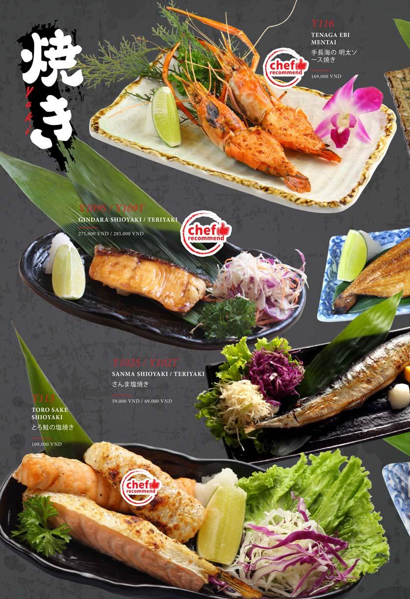 Menu Kohaku Sushi - Vincom Lê Thánh Tôn 12