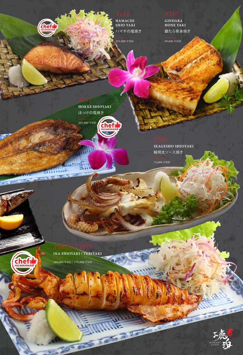 Menu Kohaku Sushi - Vincom Lê Thánh Tôn 13