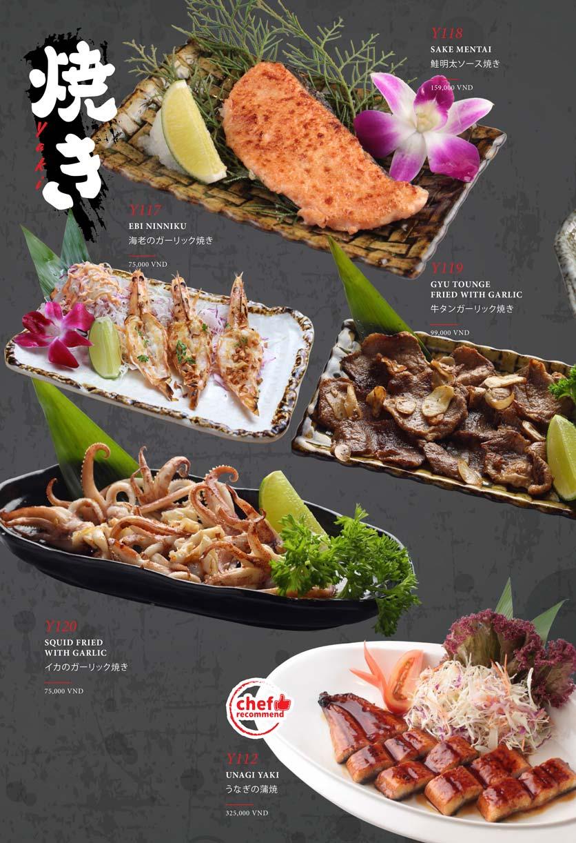 Menu Kohaku Sushi - Vincom Lê Thánh Tôn 14