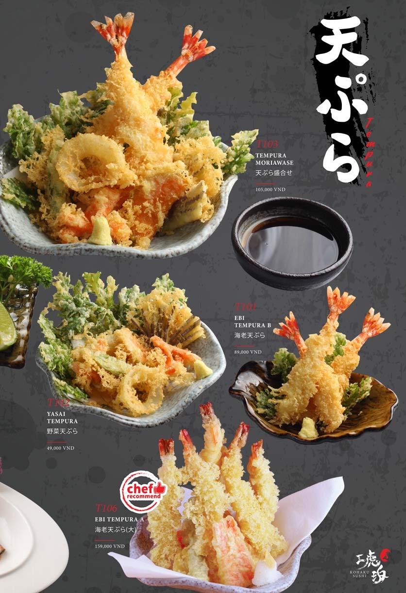 Menu Kohaku Sushi - Vincom Lê Thánh Tôn 15