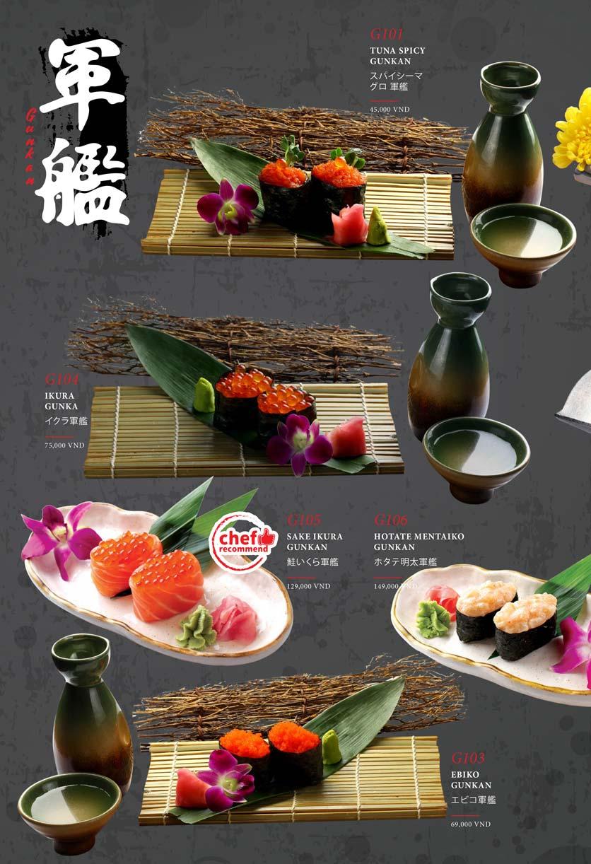 Menu Kohaku Sushi - Vincom Lê Thánh Tôn 16