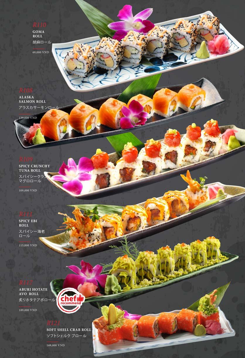 Menu Kohaku Sushi - Vincom Lê Thánh Tôn 18