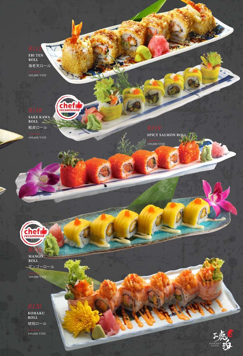 Menu Kohaku Sushi - Vincom Lê Thánh Tôn 19