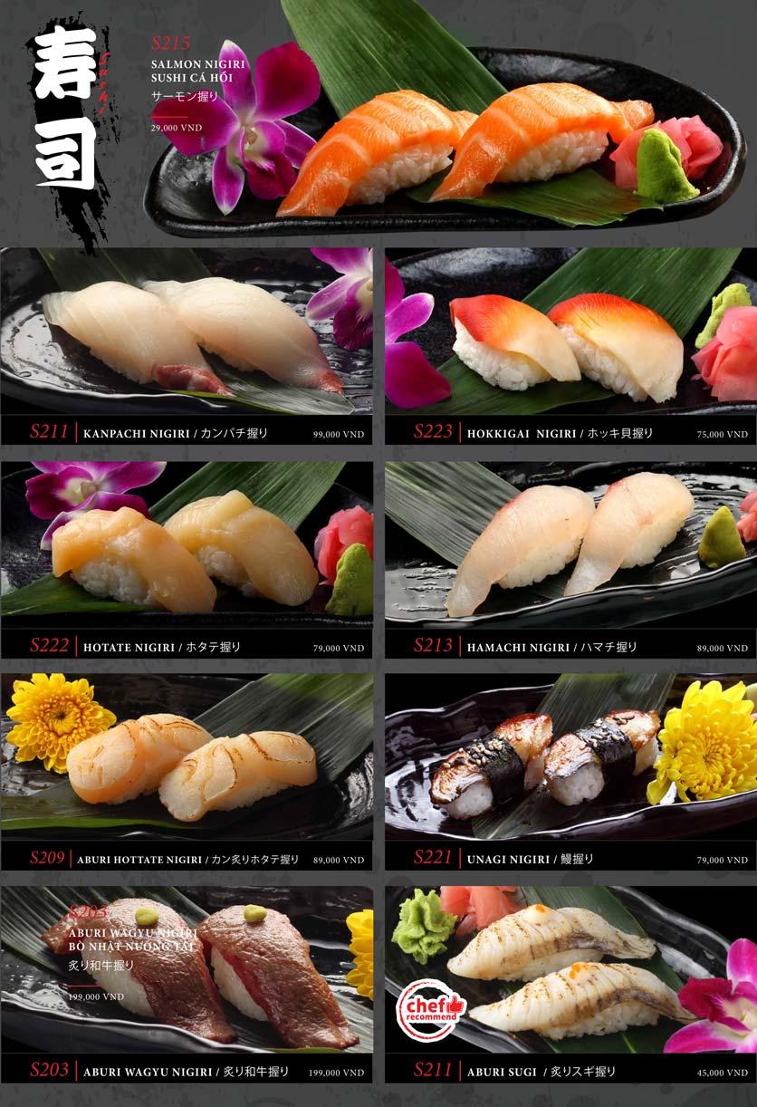 Menu Kohaku Sushi - Vincom Lê Thánh Tôn 22