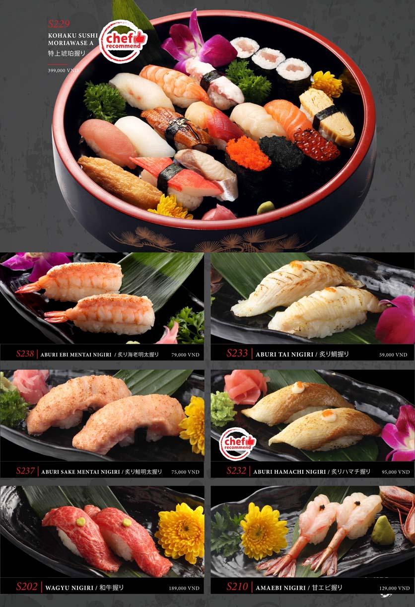 Menu Kohaku Sushi - Vincom Lê Thánh Tôn 23