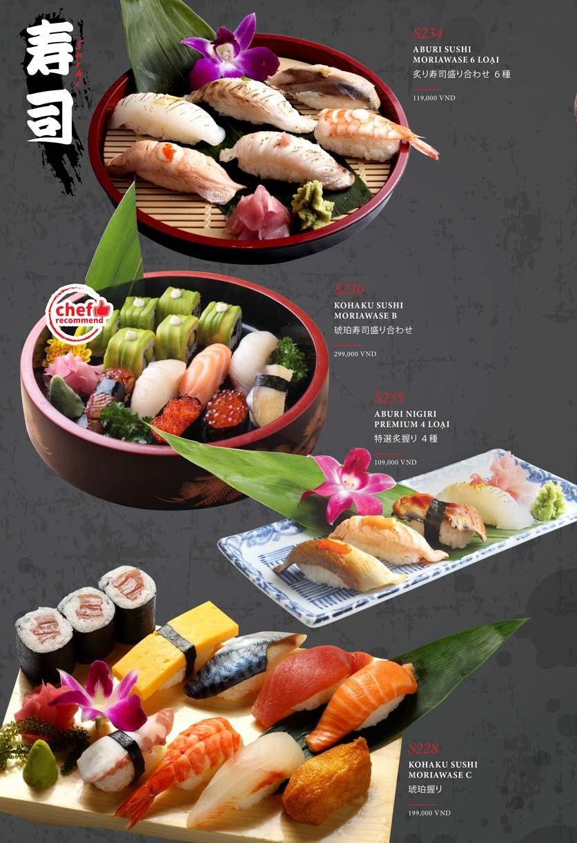Menu Kohaku Sushi - Vincom Lê Thánh Tôn 24