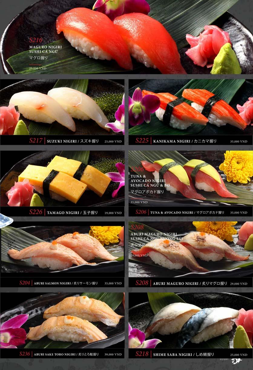 Menu Kohaku Sushi - Vincom Lê Thánh Tôn 25