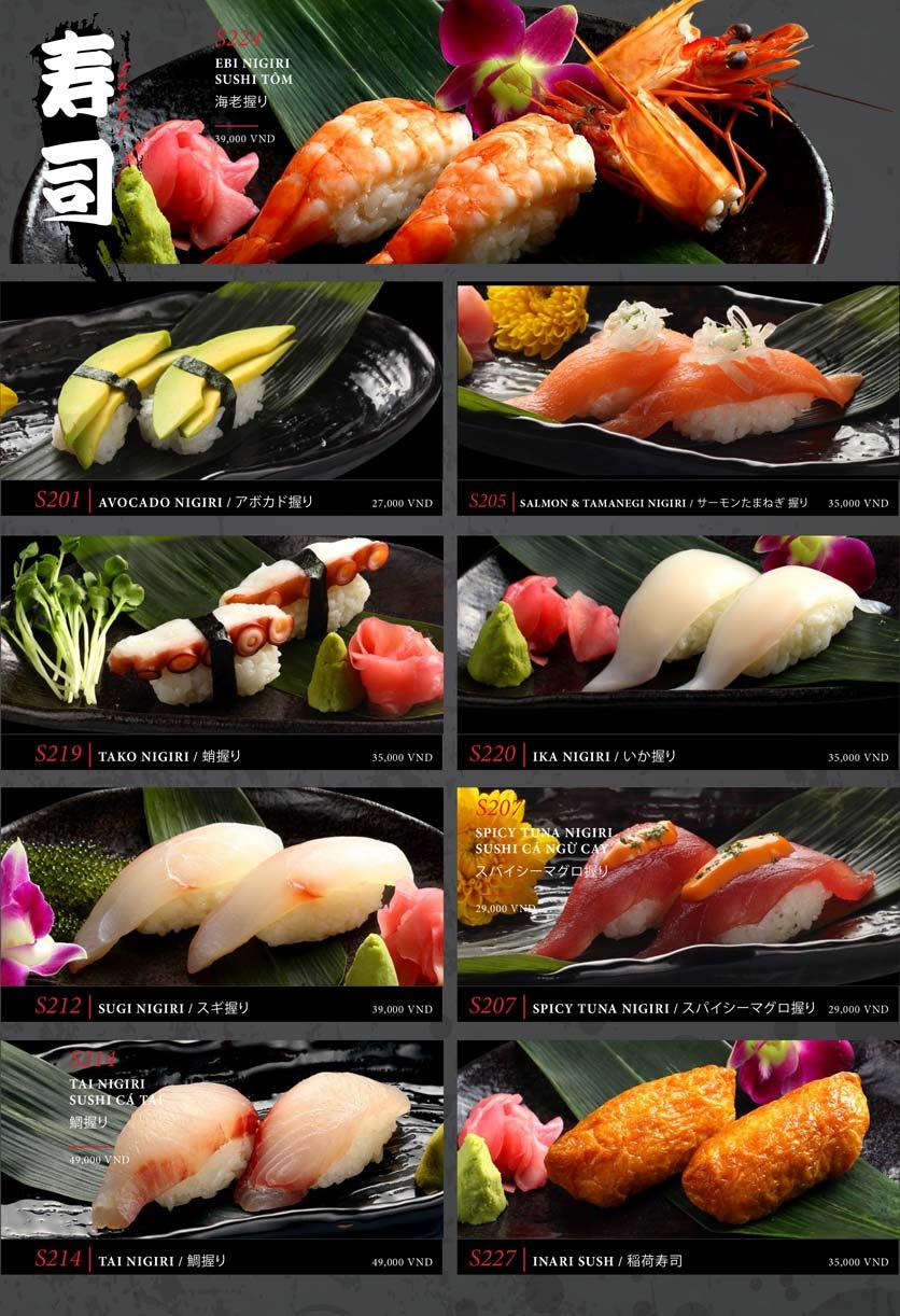 Menu Kohaku Sushi - Vincom Lê Thánh Tôn 26