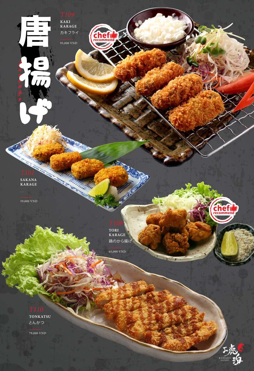 Menu Kohaku Sushi - Vincom Lê Thánh Tôn 27