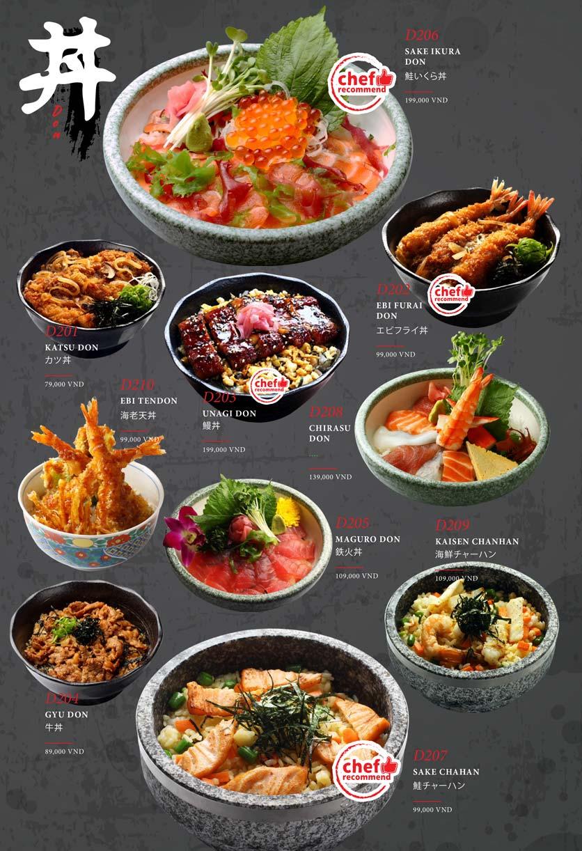 Menu Kohaku Sushi - Vincom Lê Thánh Tôn 28