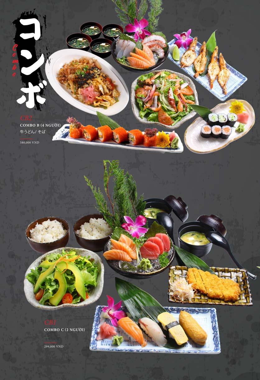 Menu Kohaku Sushi - Vincom Lê Thánh Tôn 30