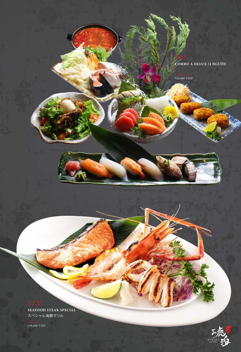Menu Kohaku Sushi - Vincom Lê Thánh Tôn 31