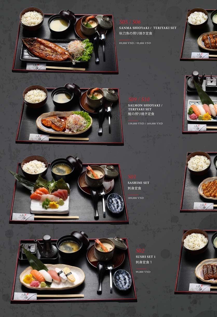 Menu Kohaku Sushi - Vincom Lê Thánh Tôn 32