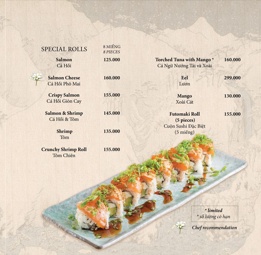 Menu Okome Sushi Bar - Nguyễn Đình Chiểu 8