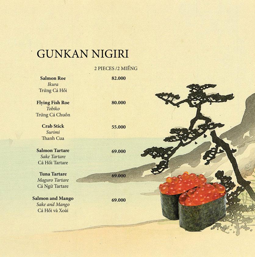 Menu Okome Sushi Bar - Nguyễn Đình Chiểu 10