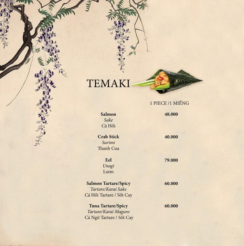 Menu Okome Sushi Bar - Nguyễn Đình Chiểu 11