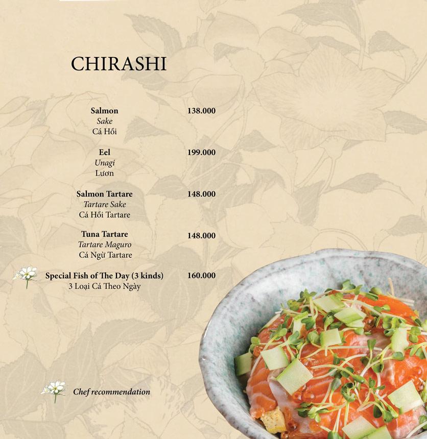 Menu Okome Sushi Bar - Nguyễn Đình Chiểu 13