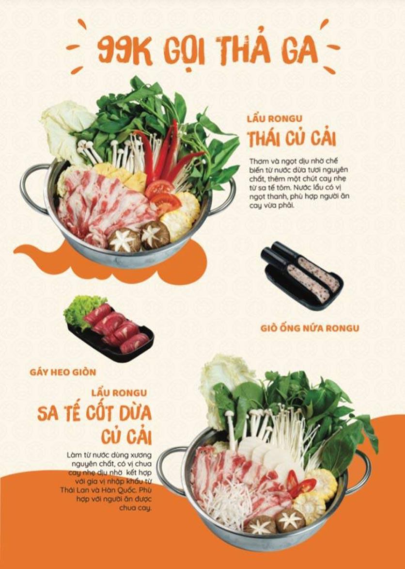 Menu Yummy - Buffet Hotpot - Xuân Thủy 1