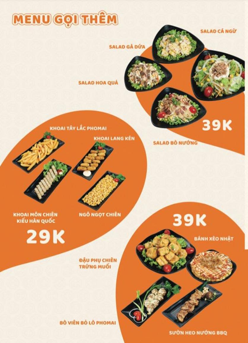 Menu Yummy - Buffet Hotpot - Xuân Thủy 3