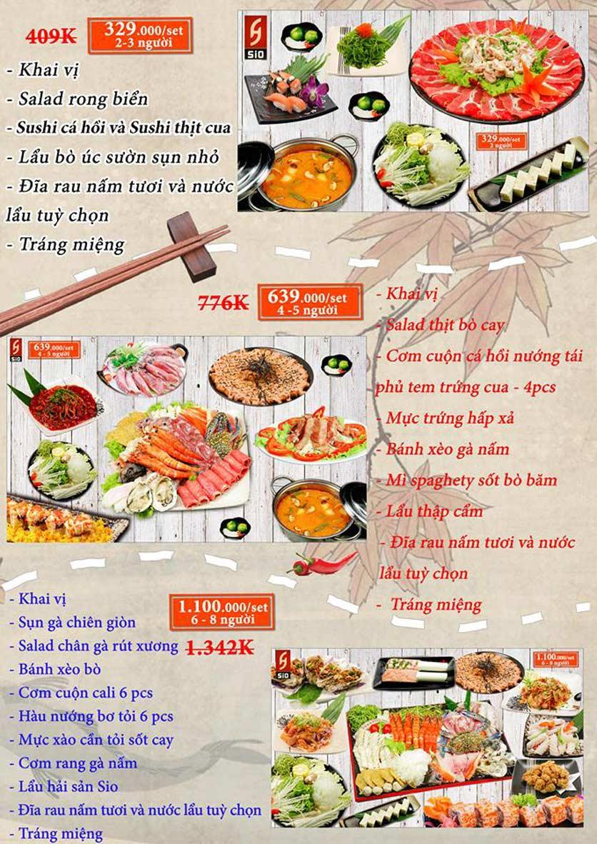Menu Sio Sushi - Đoàn Trần Nghiệp 1