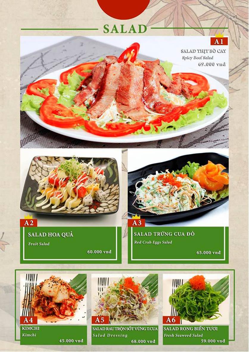 Menu Sio Sushi - Đoàn Trần Nghiệp 2