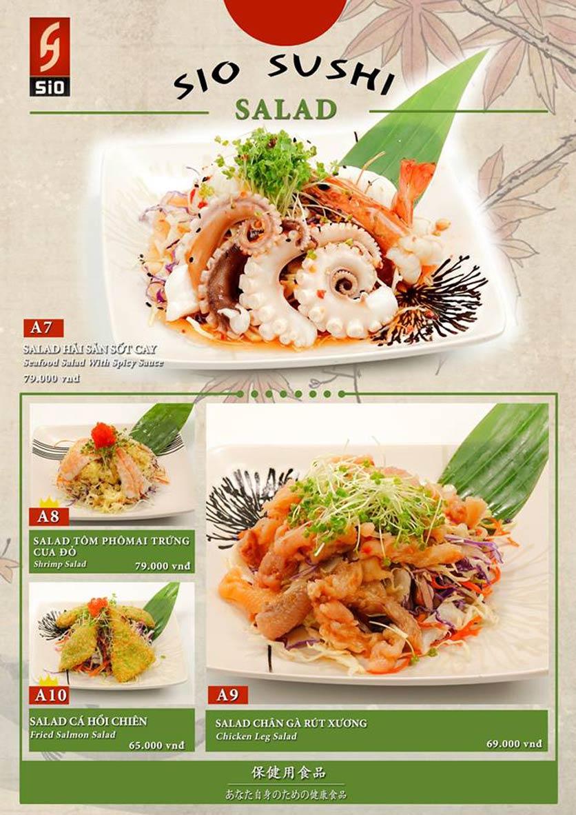 Menu Sio Sushi - Đoàn Trần Nghiệp 3