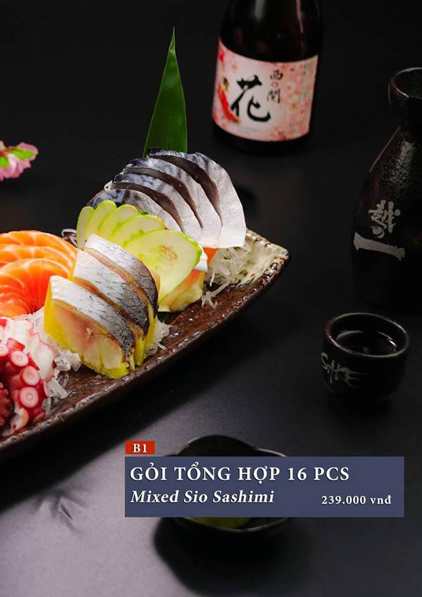 Menu Sio Sushi - Đoàn Trần Nghiệp 4